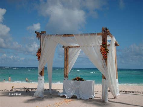 Beach wedding gazebo with sheer draping   {our wedding
