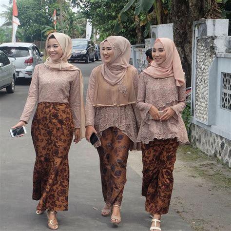 model kebaya modern brokat rok batik solo aqmar