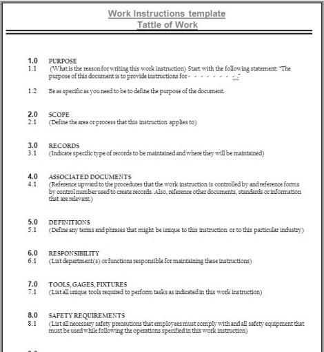 Prosedur dan instruksi kerja di perusahaan isya ansyari blog for Board policy manual template