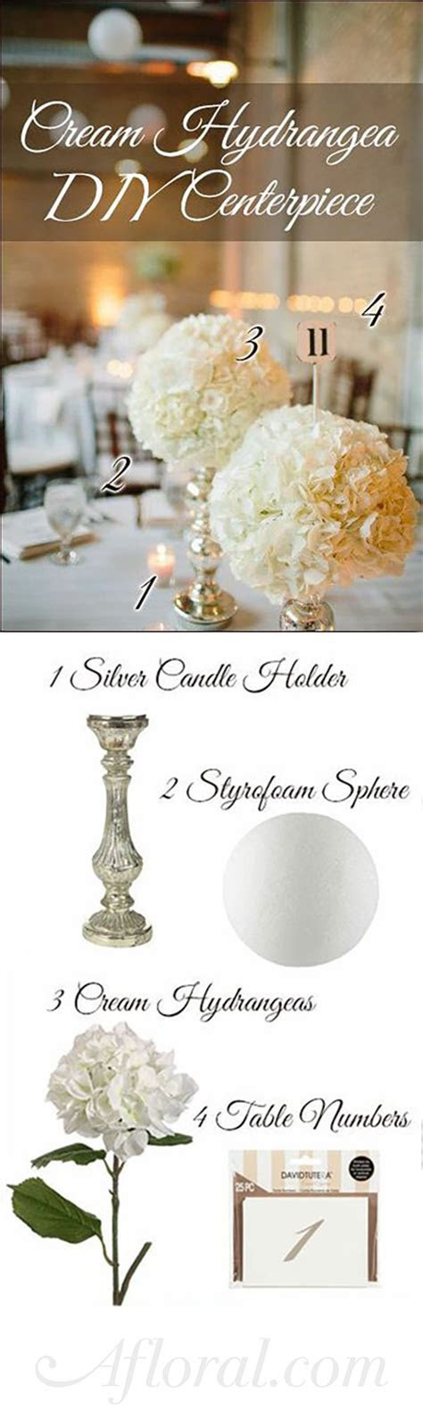 DIY Hydrangea Centerpiece ideas for your wedding reception