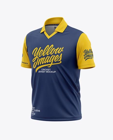 Download Mens Regular Short Sleeve Cricket Jersey / Polo V-Neck ...