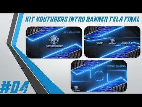 Kit Youtuber #04 Intro Banner Tela Final Para Youtubers