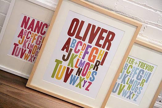 Personalized Alphabet Prints