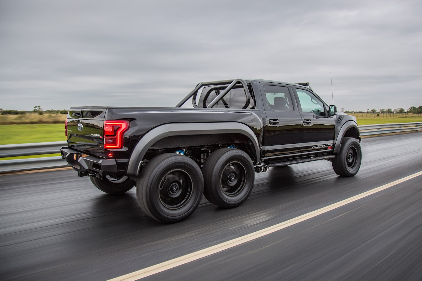 Watch The 349000 Hennessey Velociraptor 6x6 Go Out For A