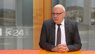 El conseller d'Empresa, Jordi Baiget, al plató del canal 3/24