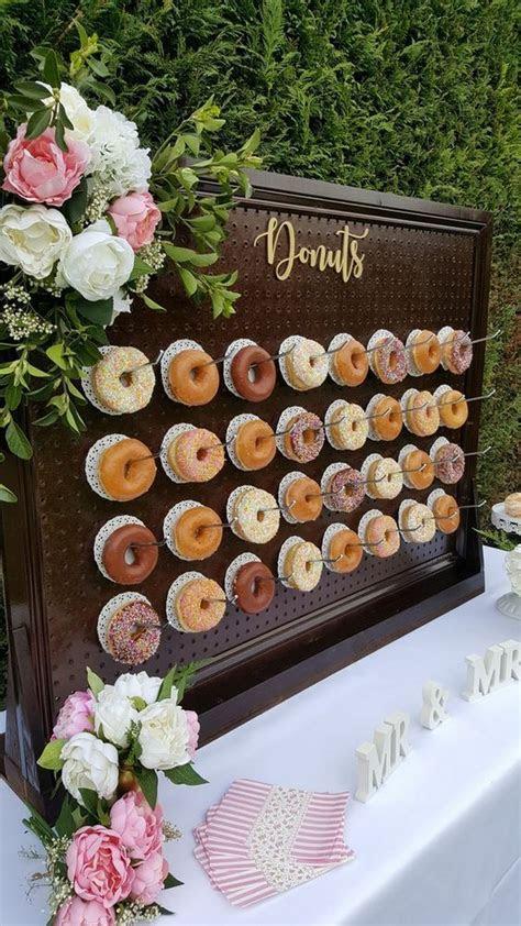 donut wall for outdoor backyard wedding ideas