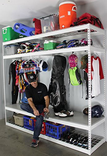 SafeRacks Sports Equipment Storage Rack Shelving 2'D x 8'W x