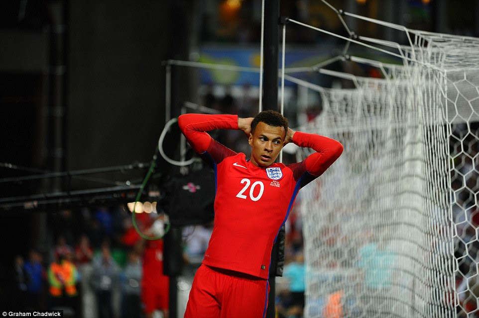 Alli's face shows the frustrations of a night when England huffed and puffed but could not blow the Slovak house down
