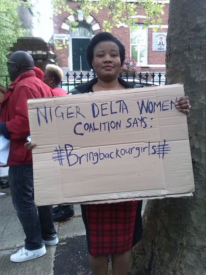 GBEMI AT A PEACEFUL RALLY HELD  IN DUBLIN FOR THE ABDUCTED 276 CHIBOK GIRLS