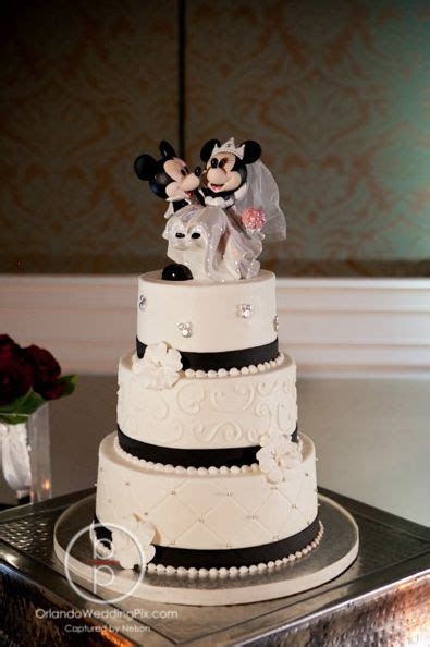 Gorgeous Black White and Crystal cake from Party Flavors