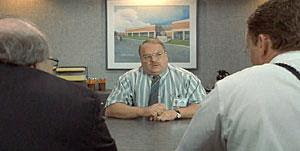Smykowski answers the question 'What, would you say, you do here?' in 'Office Space' (1999)