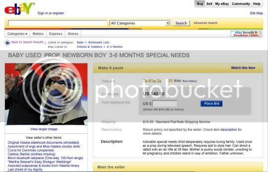 Trig Palin on eBay