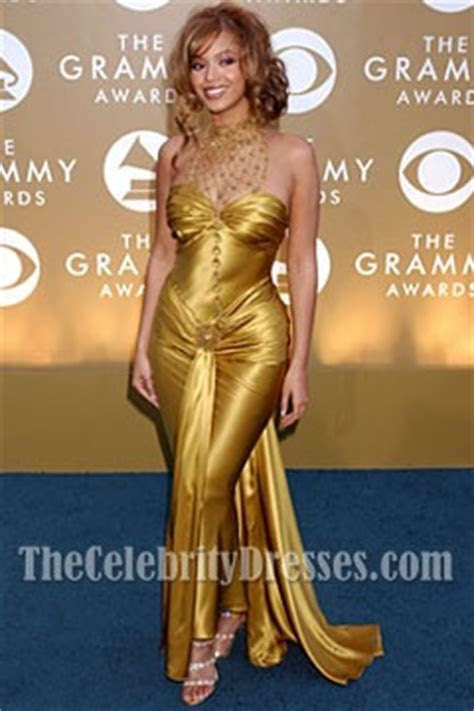 Beyonce Gold Sweetheart Prom Dress Grammy Awards Blue