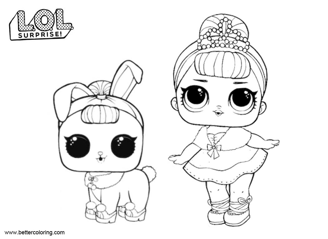 Lol Surprise Pets Coloring Pages Coloring And Drawing