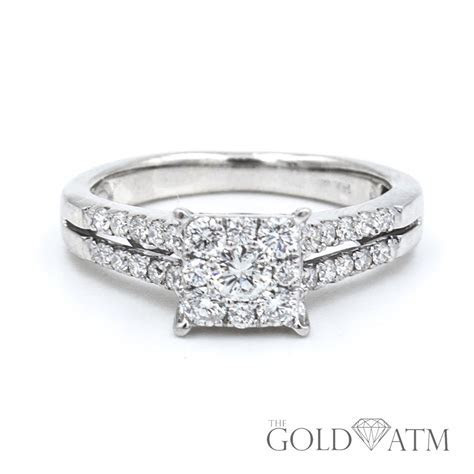 14K White Gold Diamond Engagement Ring from Zales   The