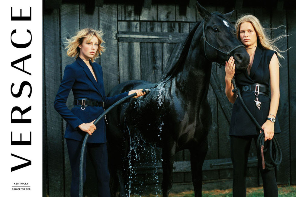 Model:Edie Campbell and Anna Ewers Photographer:Bruce Weber