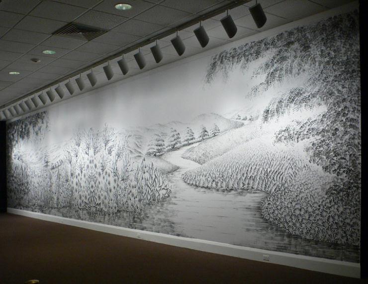Impressionante mural pintado a dedo 03