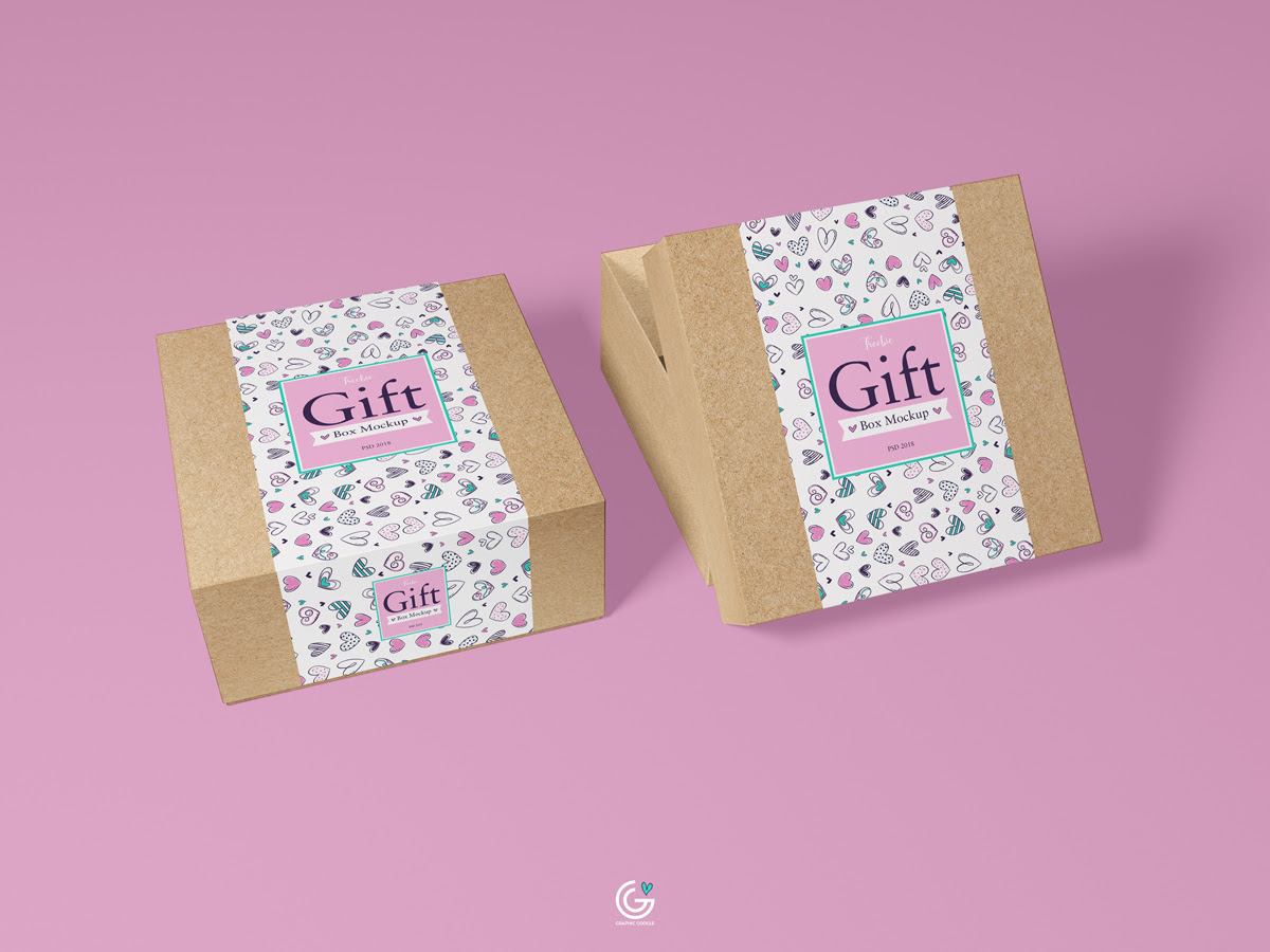 Free Packaging Craft Paper Gift Box Mockup Psd 2018 Graphic Google Tasty Graphic Designs Collectiongraphic Google Tasty Graphic Designs Collection