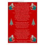 funny christmas poem santa and xmas tree art greeting card