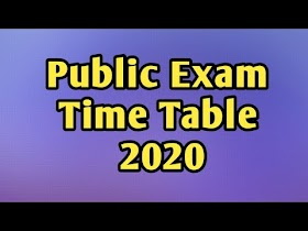 Public Exam Time Table 2020