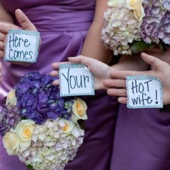 "Wedding Ideas: Bridesmaids Flash A ""secret Message"" At The"
