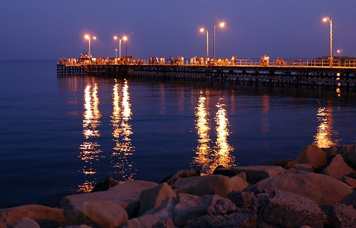 peer at the Limassol seafront, Cyprus