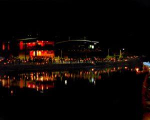 Lagoa ficará no escuro durante movimento contra degradação ambiental (Foto: Manoel Vaz/Semcom)