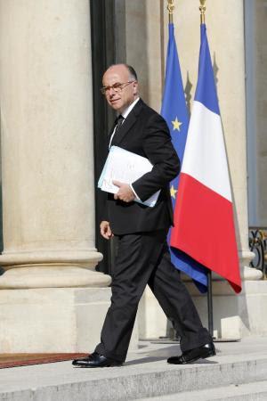 French Interior Minister Bernard Cazeneuve arrives…