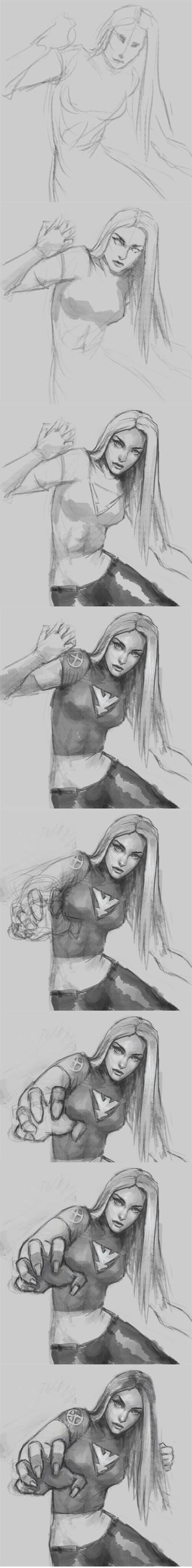 how to draw x-men jean grey
