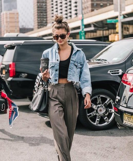 how to wear cropped denim jacket
