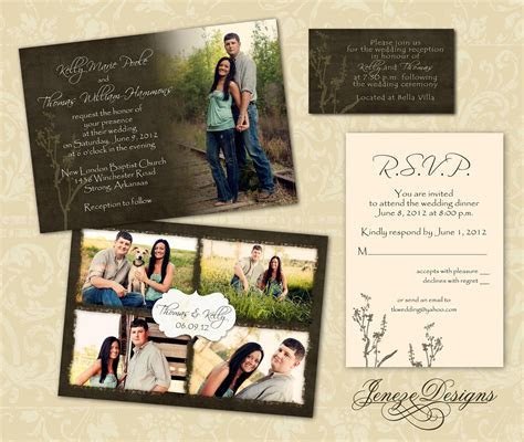 Wedding Invitation Template Photographers and Photoshop