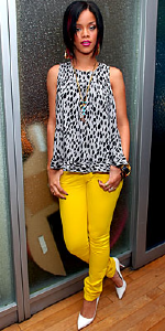 Rihanna wearing Cassette Skinny Denim