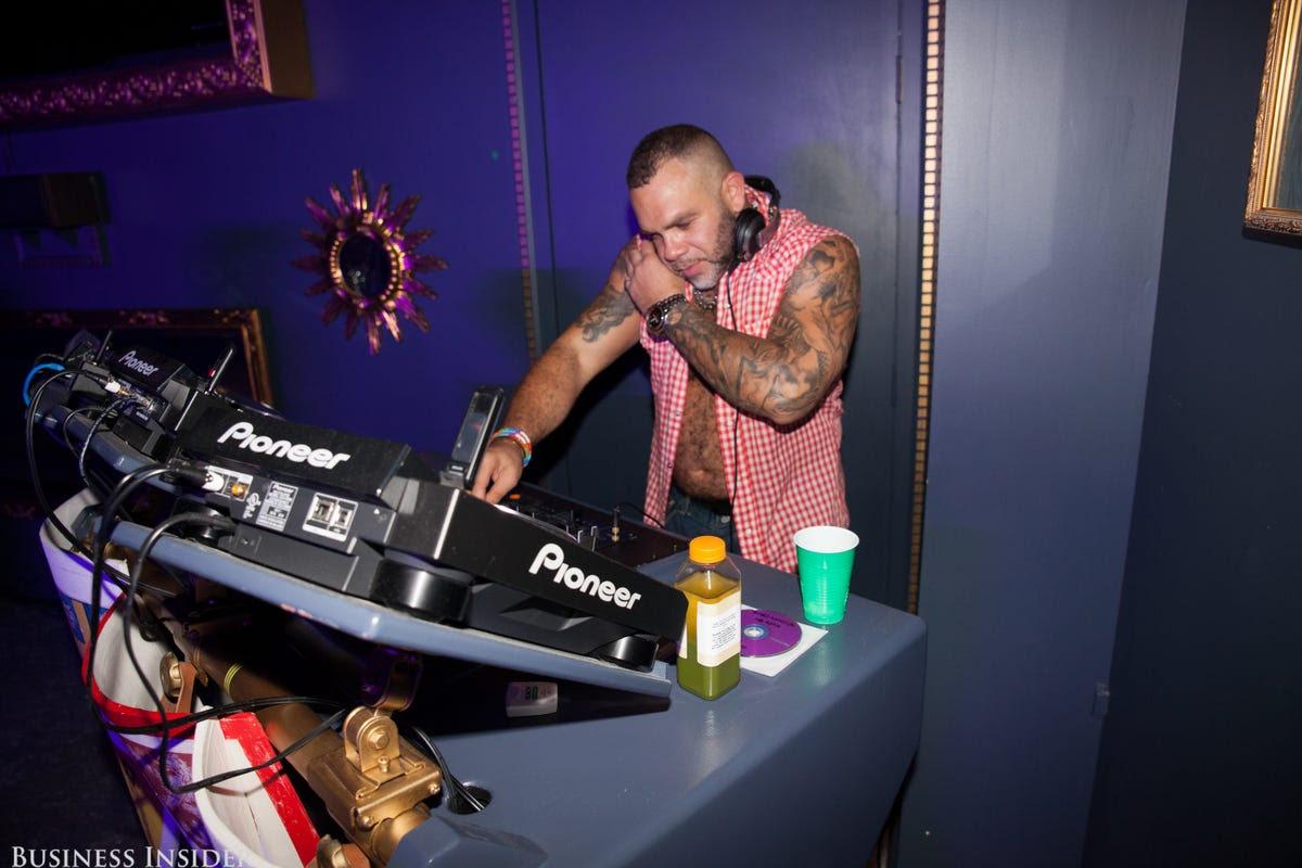 DJ Sin Morera spun disco and techno beats all night.