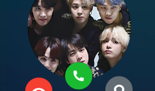 BTS FAKE VIDEO CALL : video and voice call BTS