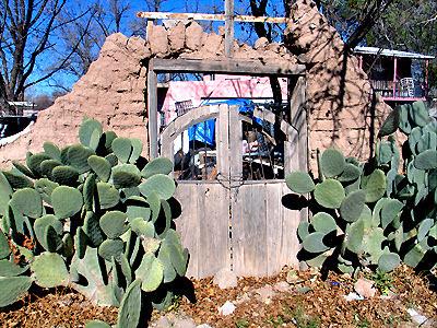 Mesilla Gate - Adobe Wall