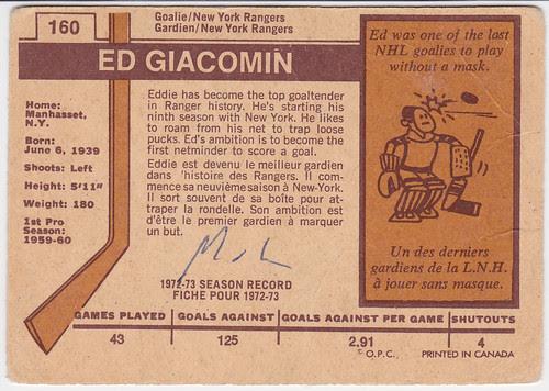 Ed Giacomin - Back