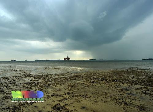 Incoming weather over Pulau Semakau