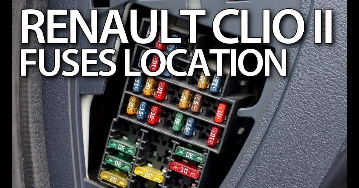 Renault Clio Mk4 Fuse Box Diagram