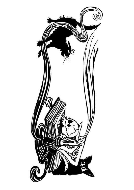 Dibujo Para Colorear Escena De Terror Img 11319