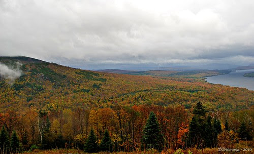 A cloudy view from Height of Land, Maine