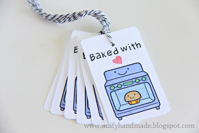 Baked With Love--Handmade Tag