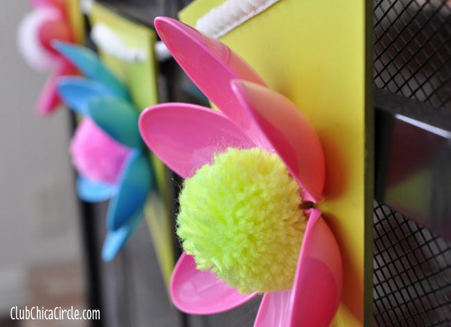Plastic Spoon Garland Spring Flower Craft