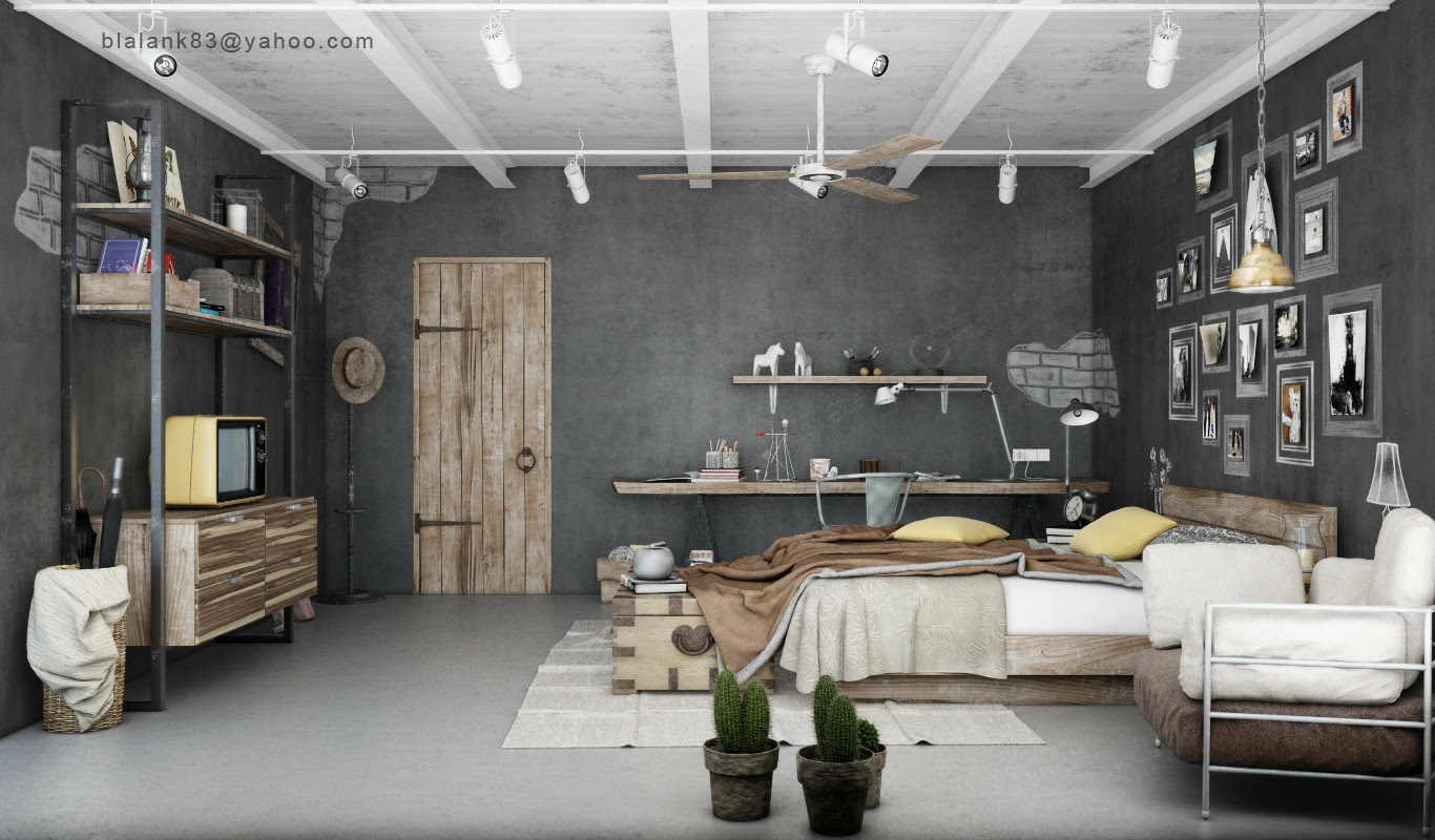 Industrial Bedrooms with Divine Detail