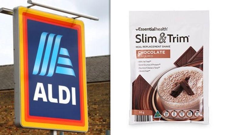 Aldi Slim & Trim shakes de perda de peso elogiados por resultados dramáticos da dieta