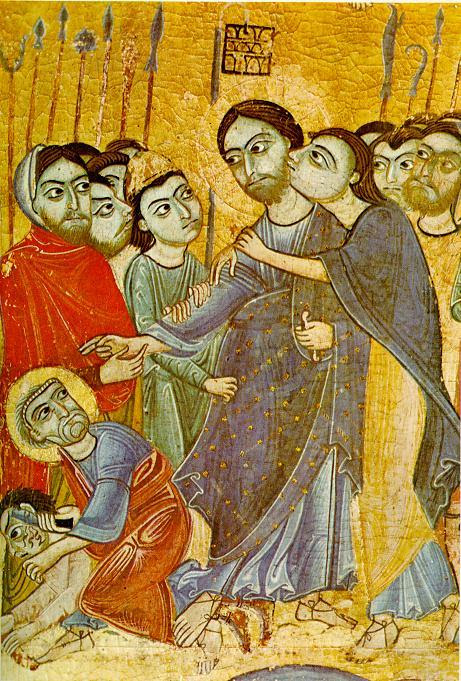 exclamationmark: Kiss of Judas Iscariot, anonymous painting of the 12th century, Uffizi Gallery, Florence.