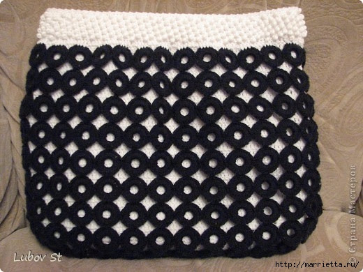 Handbag of the rings with beads.  Crochet without interrupting the thread (23) (520x390, 156Kb)