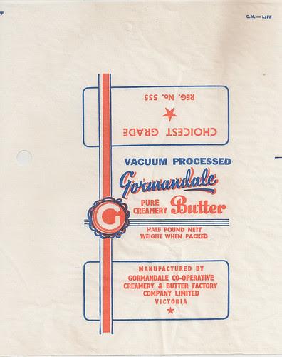 Gormandale Butter Wrapper
