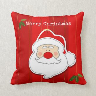 2-Sided Christmas Santa Claus Decorative Pillow