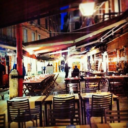 Restaurant Aciugheta, Venice, where I just had my dinner.