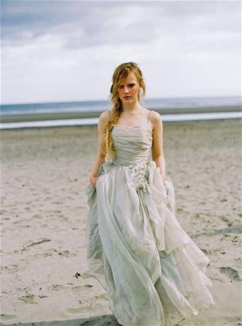 Ocean inspired blue wedding dress for beach wedding   Deer